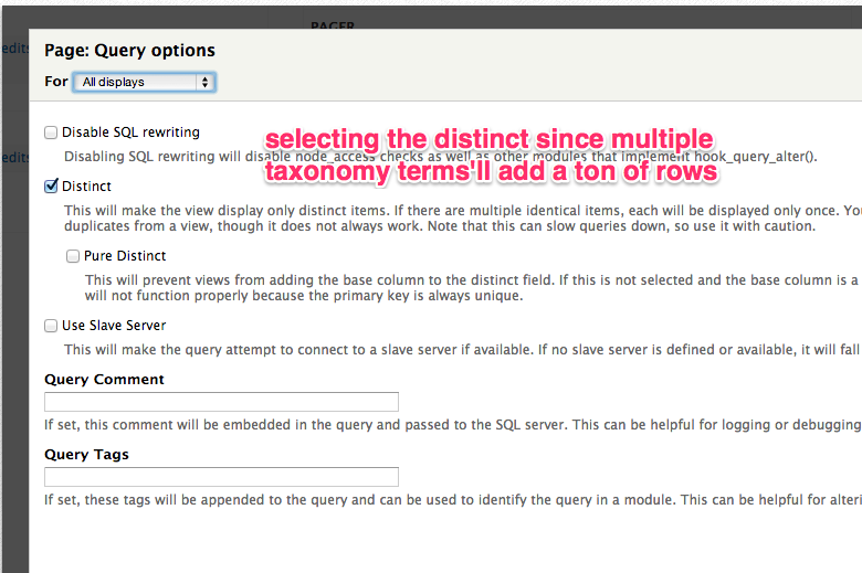Show users any content that matches any taxonomy term in views