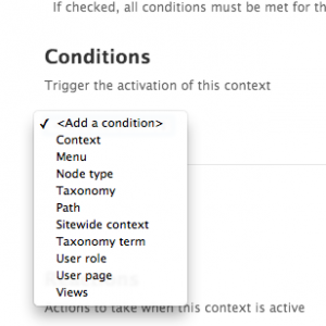First up choose the conditions for your layout
