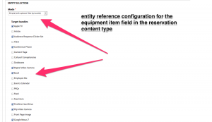entity reference configurations for reservation content type