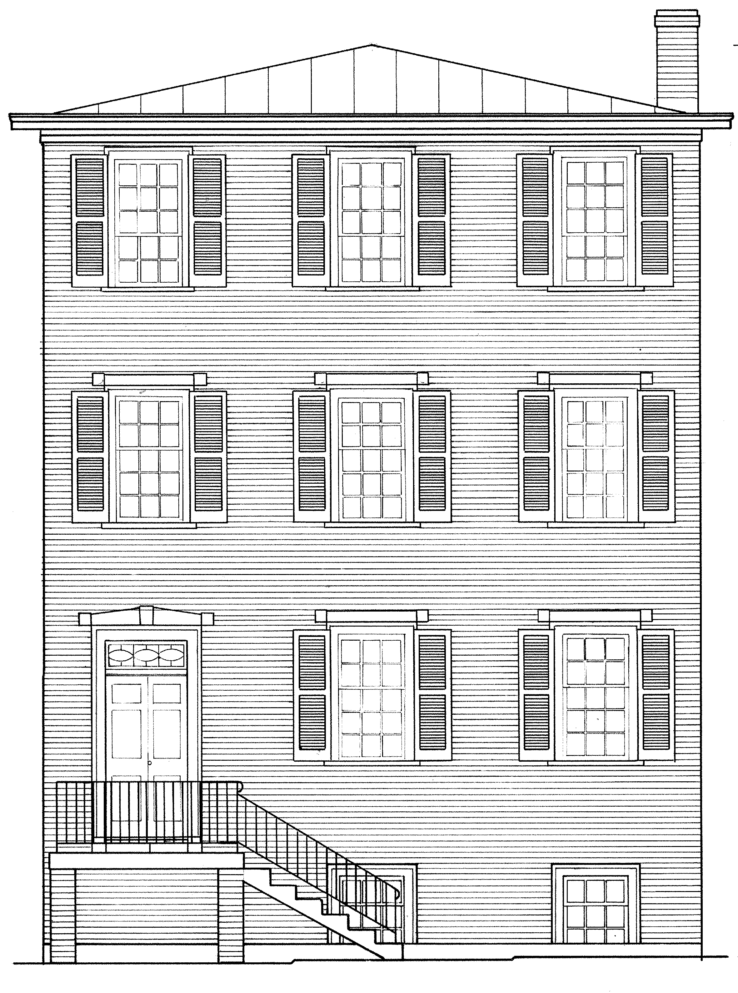 Carter-Gilmer house drawing
