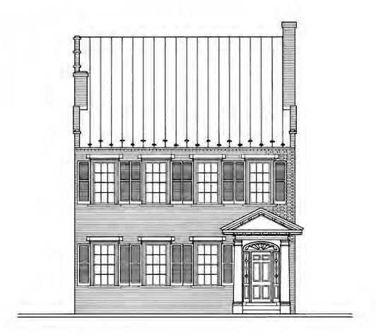 Dinsmore house drawing