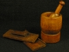 Mortar and pestle, pill mold
